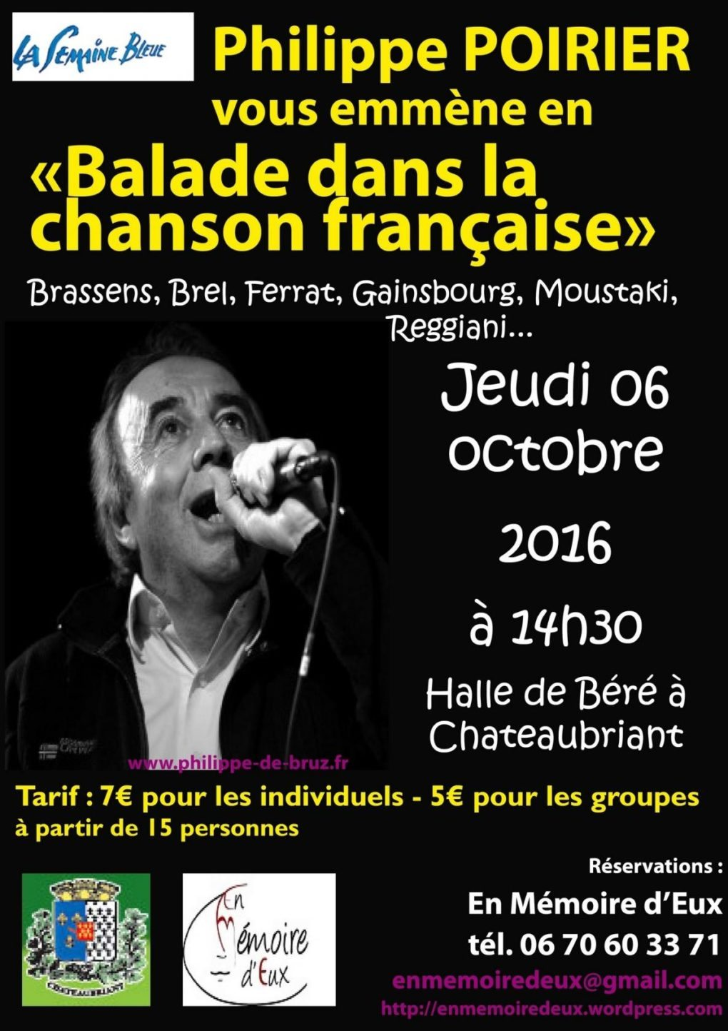 Balade dans la chanson française par Philippe Poirier Châteaubriant
