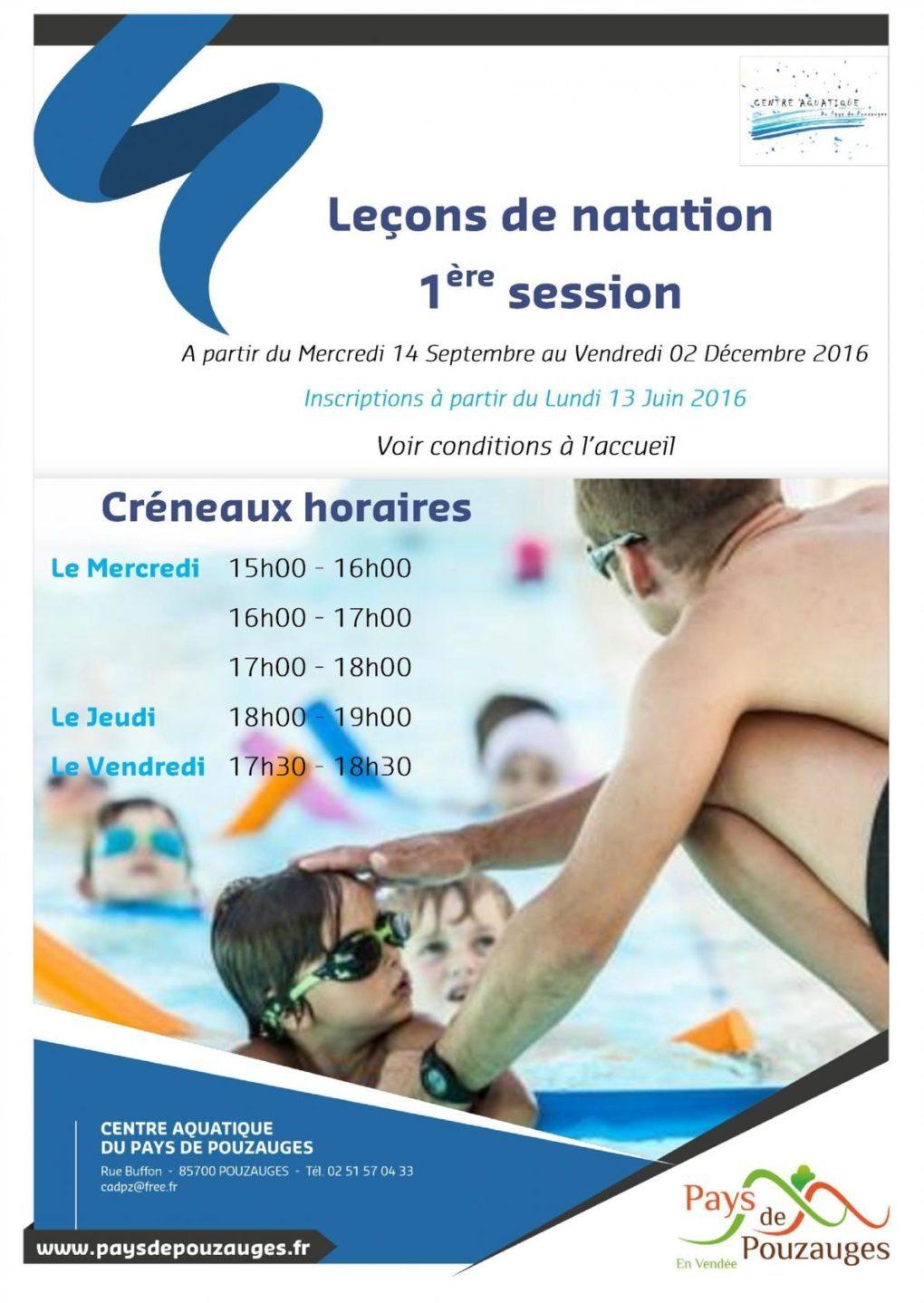 Centre aquatique du Pays de Pouzauges, leçons de natation Pouzauges