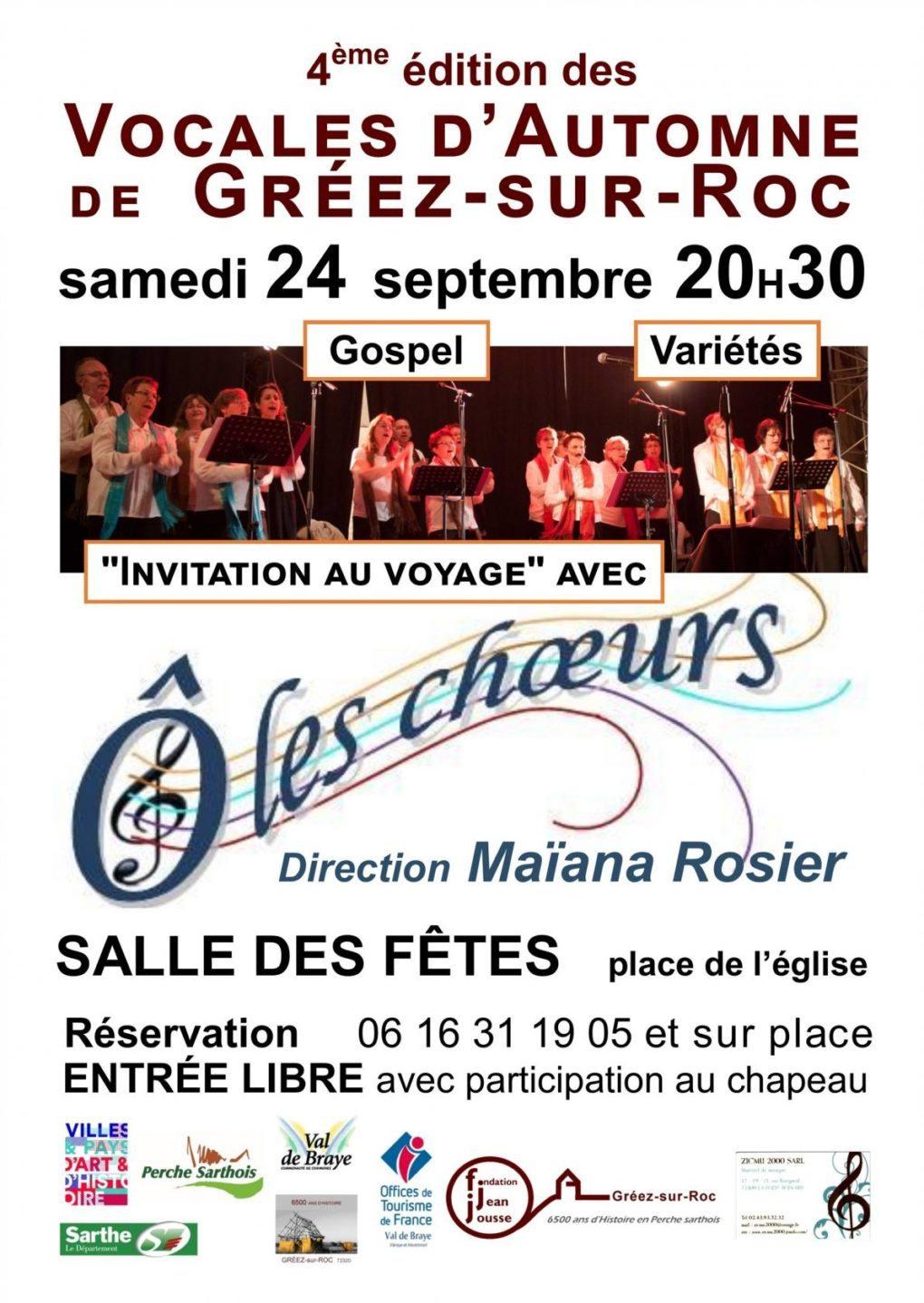 Chorale Ô les choeurs de La Ville aux Clercs Gréez-sur-Roc