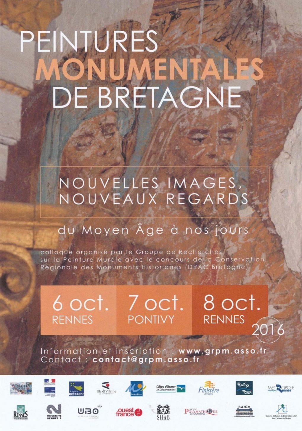 Colloque sur la peinture murale de Bretagne Rennes