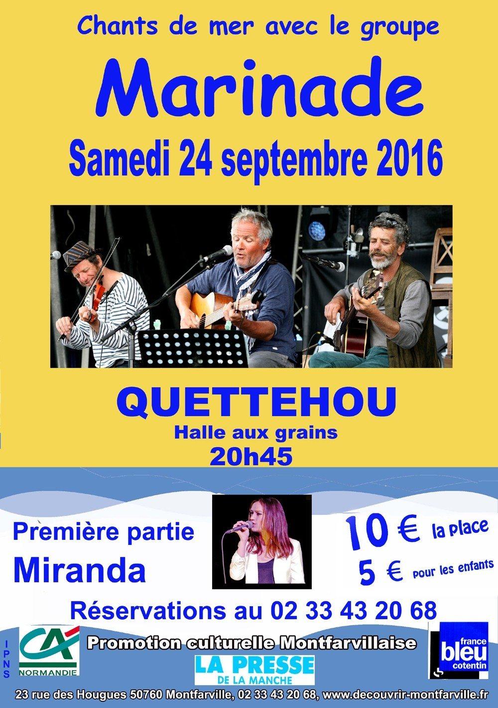Concert de Miranda et Marinade Quettehou