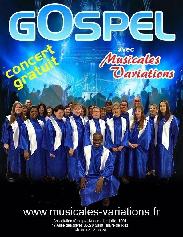 Concert gospel par Musicales variations Aizenay