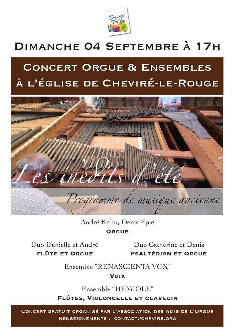 Concert orgue et ensembles Baugé