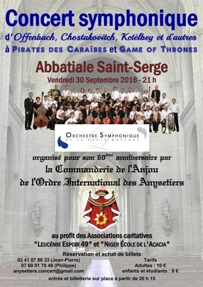 Concert symphonique, d'Offenbach à Game of thrones Angers