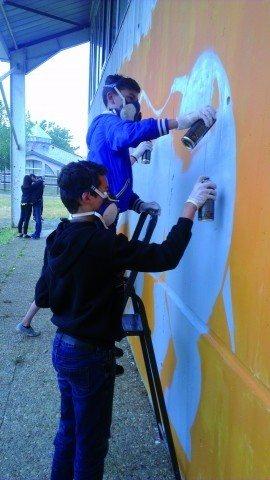 Création d'une fresque Changé