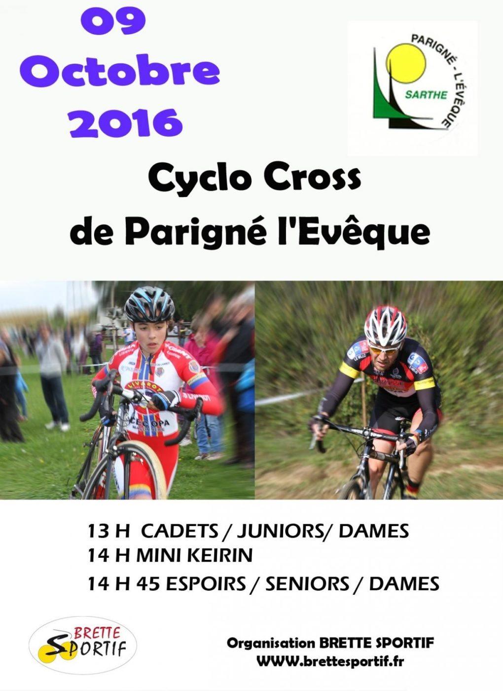 Cyclo cross Parigné-l'Évêque