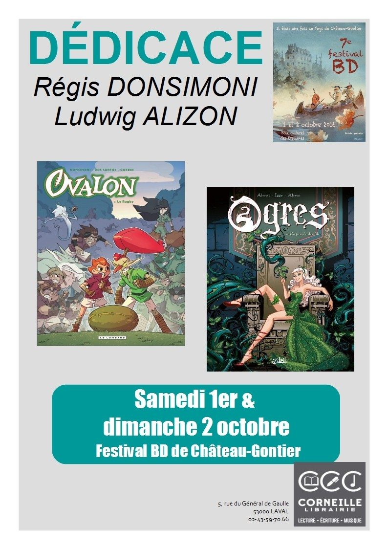 Dédicace BD Donsimoni et Alizon Château-Gontier
