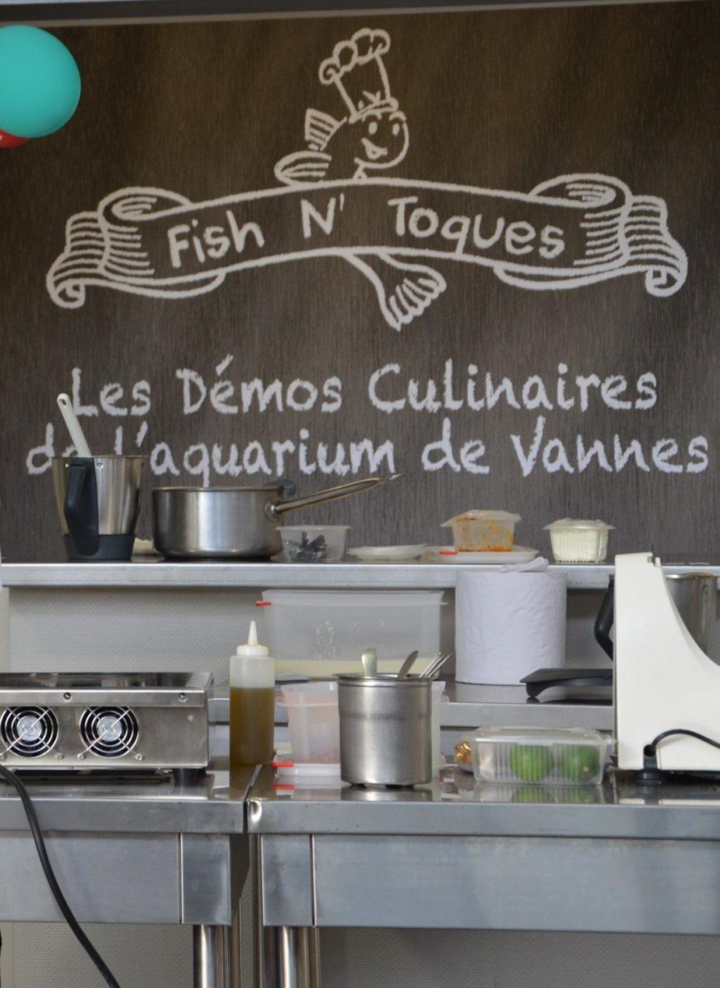Démo culinaire Fish N' Toques par François Demassard Vannes