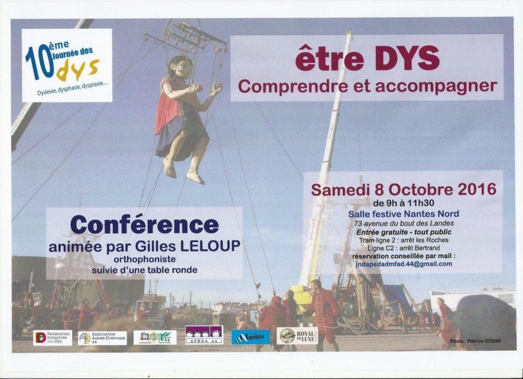 Etre Dys comprendre et accompagner Nantes