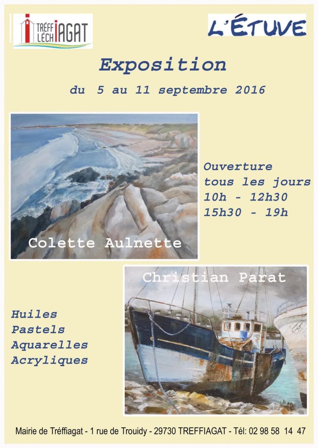 Exposition Colette Aulnette et Christian Parat Treffiagat