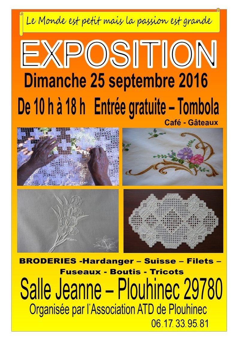 Exposition de broderies Plouhinec