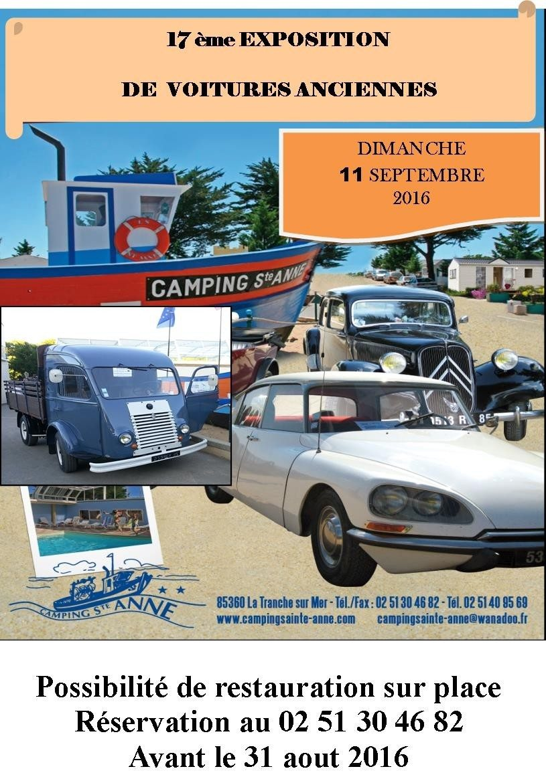 Exposition, défilé de voitures anciennes La Tranche-sur-Mer