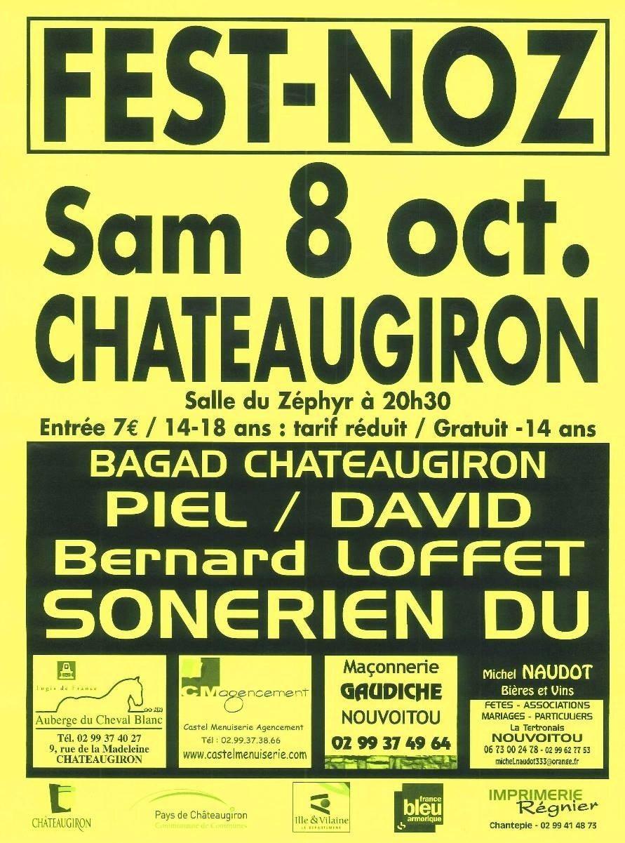 Fest-noz du bagad Châteaugiron Châteaugiron