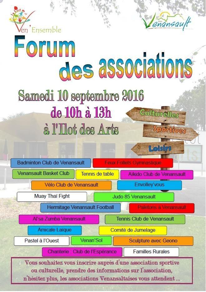 Forum des associations culturelles, sportives et de loisirs Venansault