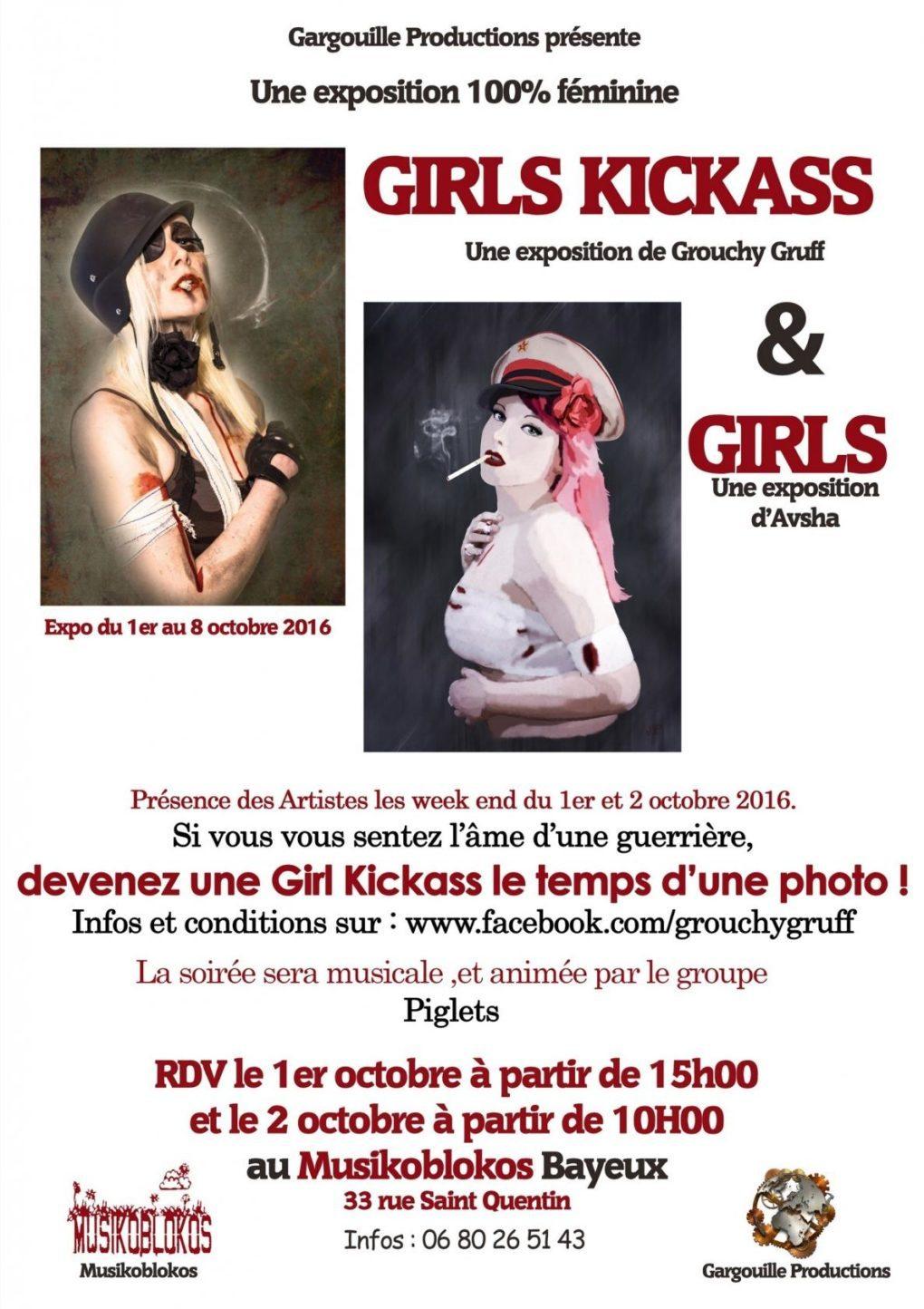 Girls Kickass par Grouchy Gruff Bayeux