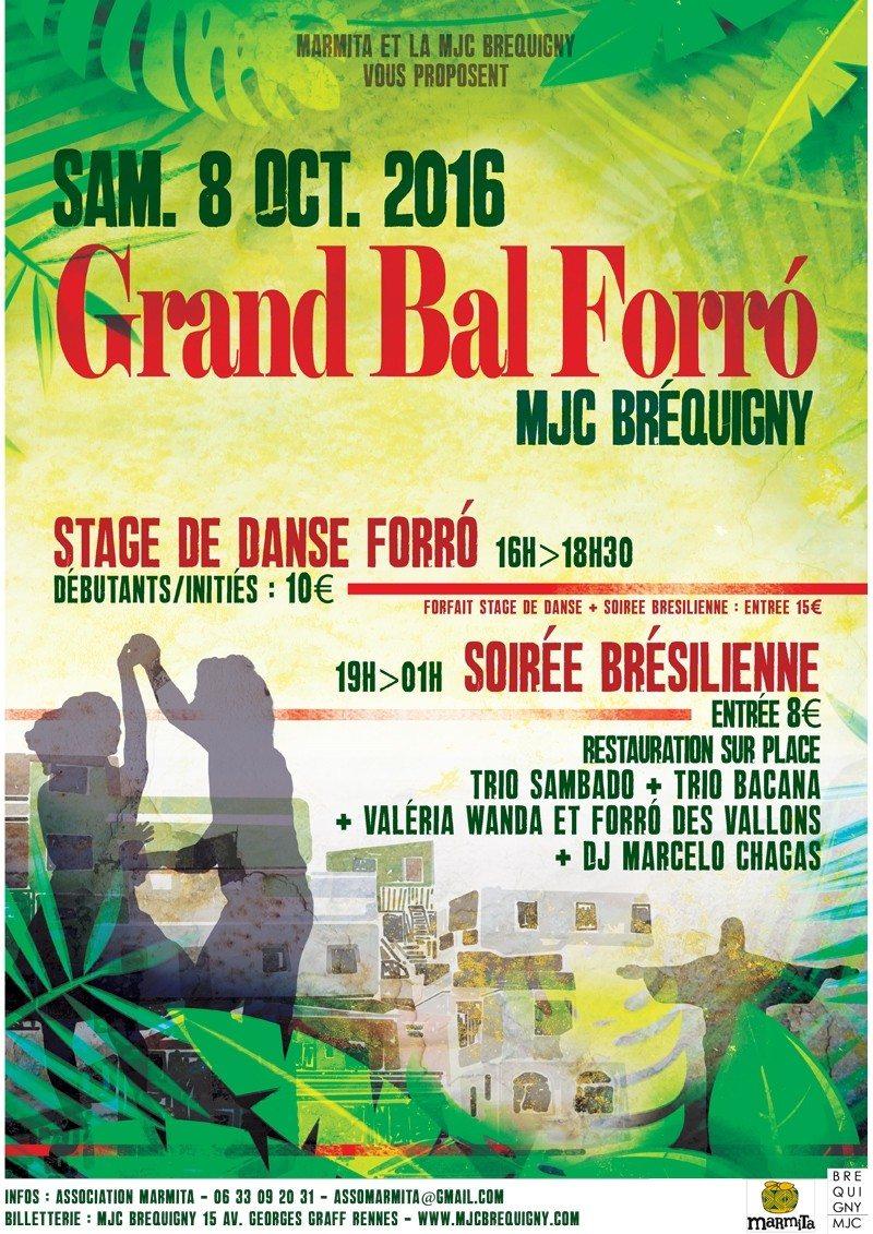 Grand bal Forró, soirée brésilienne Rennes