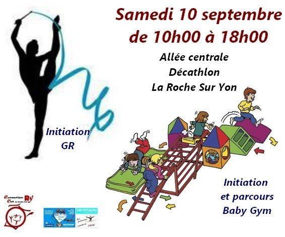 Gymnastique rythmique ou GRS et parcours baby gym La Roche-sur-Yon