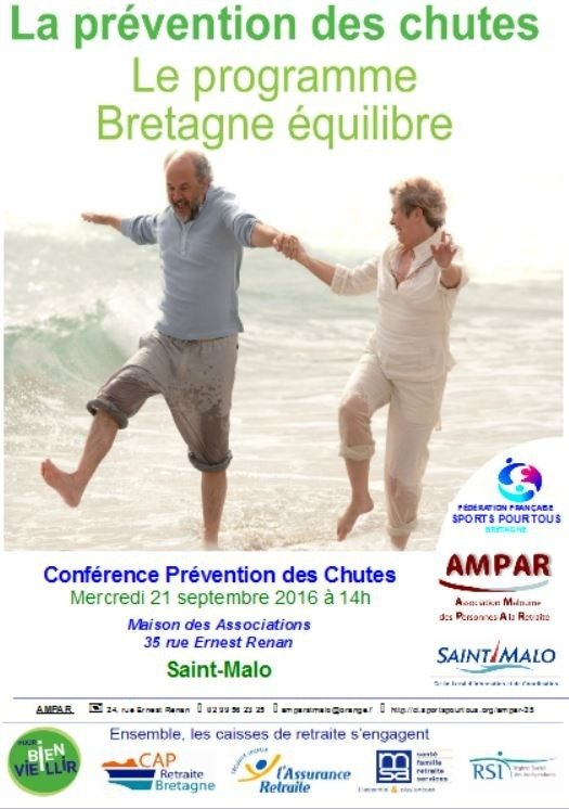 Information sur la prévention des chutes seniors, ouverte à tous Saint-Malo