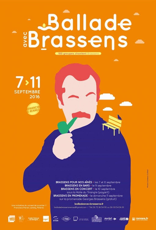 La ballade avec Brassens Rennes