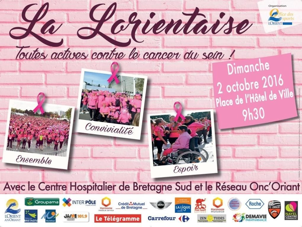 La Lorientaise 2016 : toutes actives contre le cancer du sein Lorient