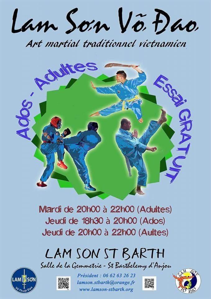 Lam son vo dao, arts martiaux vietnamiens Saint-Barthélemy-d'Anjou