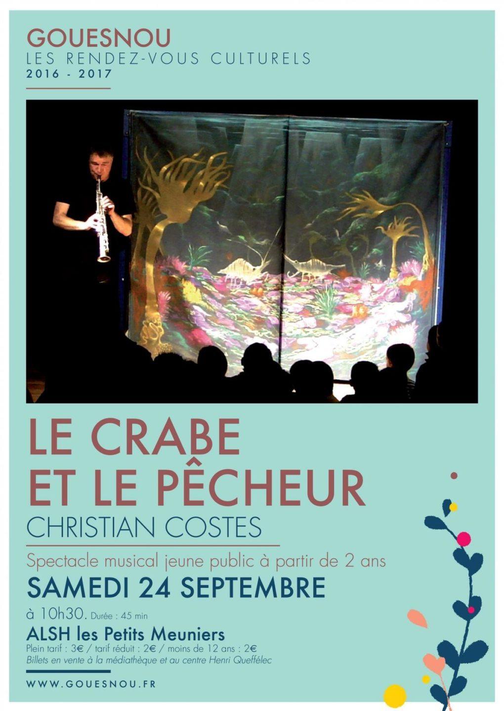 Le crabe et le pêcheur (Christian Costes) Gouesnou