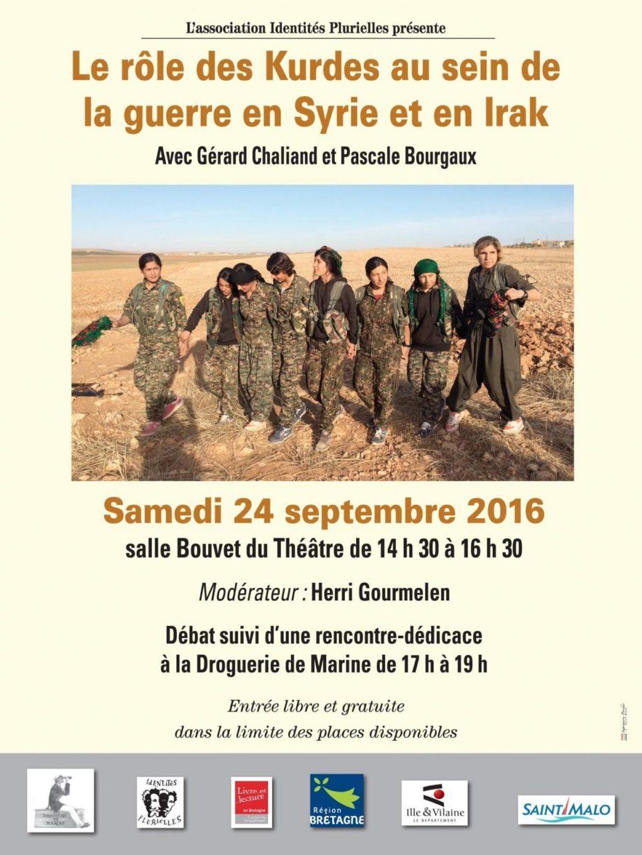 Le rôle des Kurdes, dans la guerre en Syrie et en Irak Saint-Malo