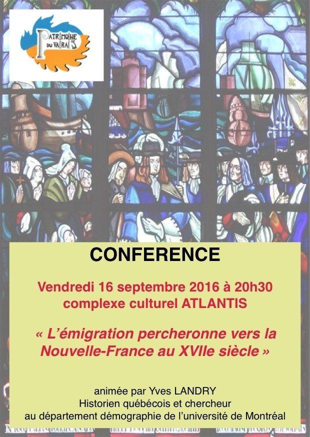L'émigration percheronne vers la Nouvelle-France au XVIIe siècle Saint-Cosme-en-Vairais