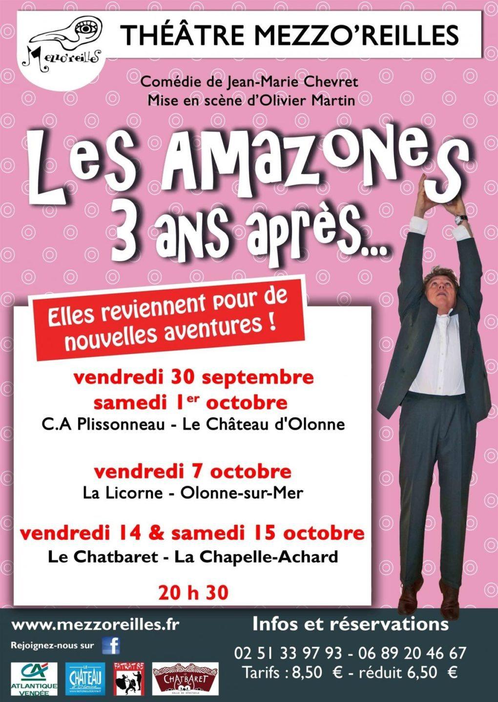Les Amazones 3 ans après par la Compagnie Mezzo'reilles La Chapelle-Achard