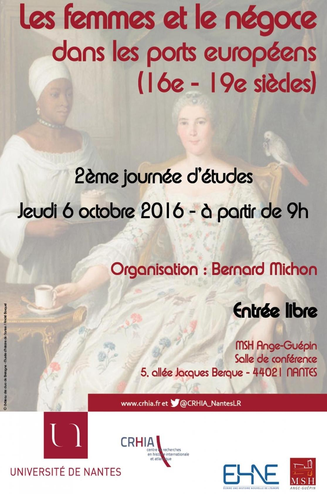 Les femmes et le négoce dans les ports européens (16e-19e s) Nantes