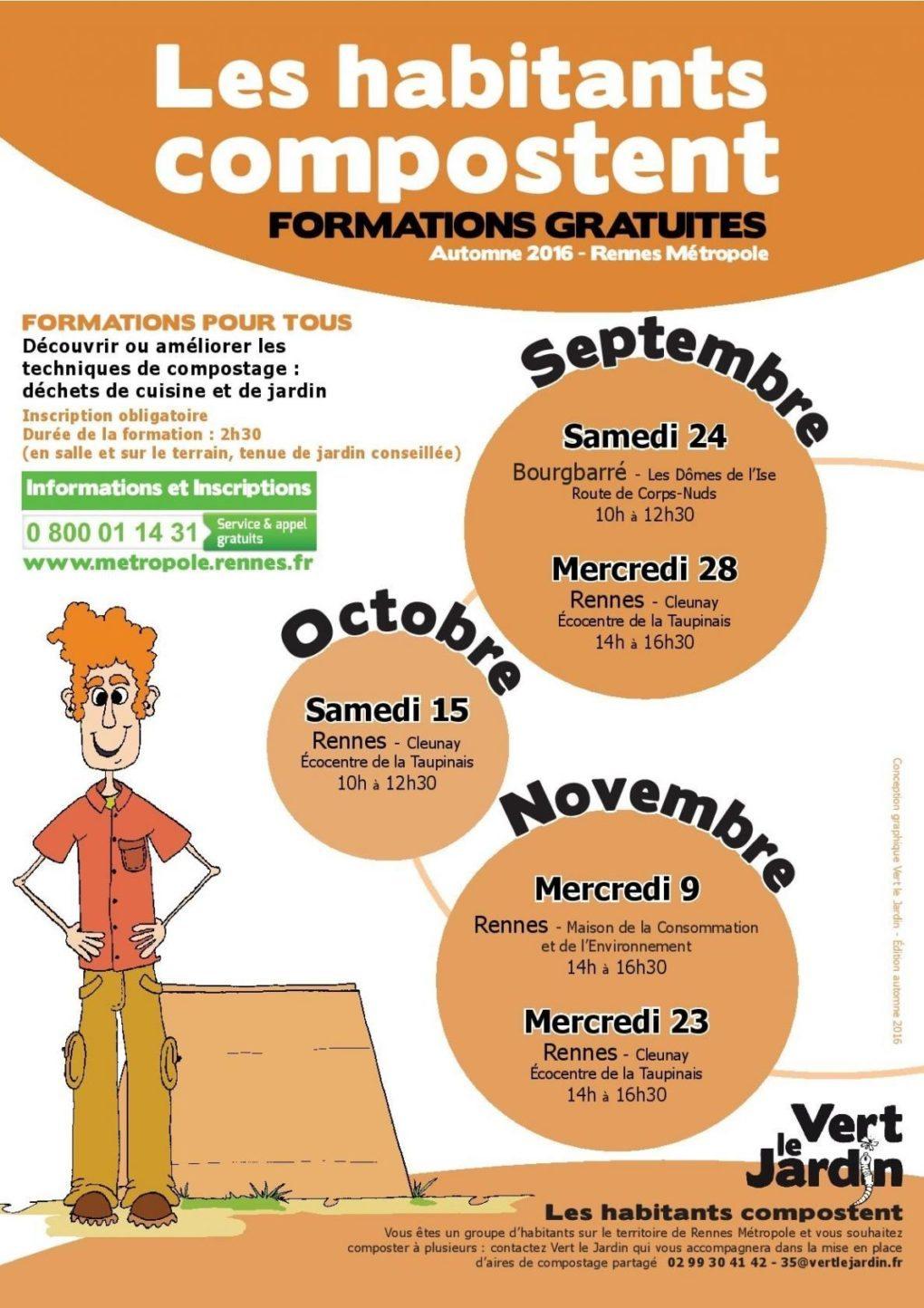 Les habitants compostent : formation pour tous Rennes