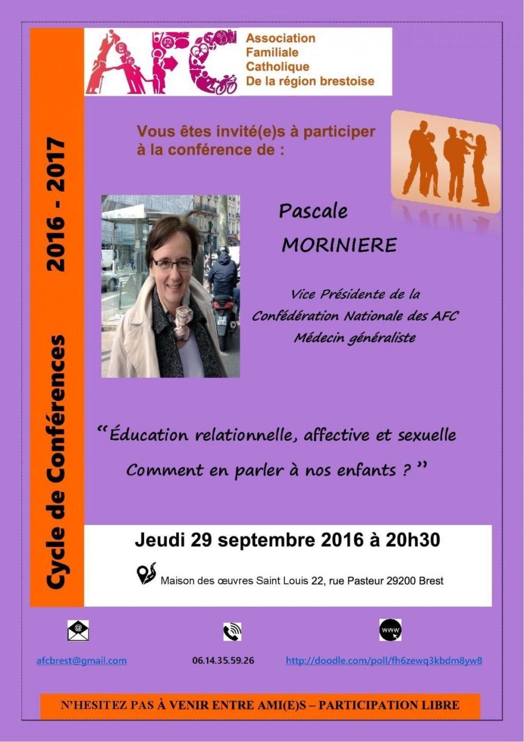 Pascale Morinière vice présidente Confédération nationale Afc Brest