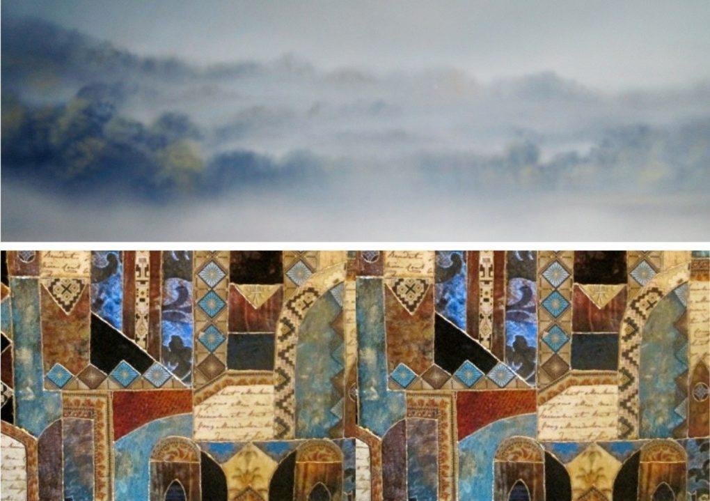 Pastels de Denise Bruneau et art textile de Manon Loireauxence