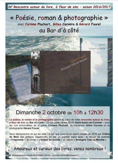Poésie, roman et photographie Saint-Aubin-du-Cormier