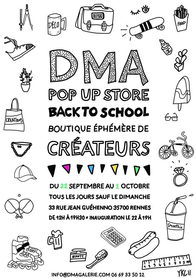 Pop up store, Back to school Rennes