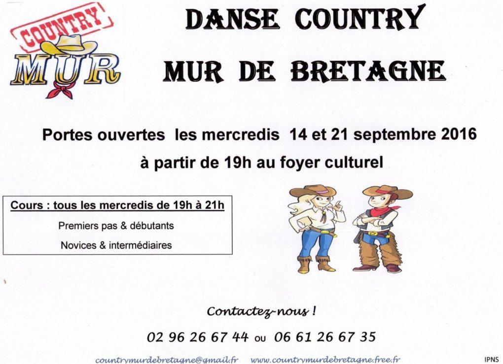 Porte ouverte danse country Mûr-de-Bretagne