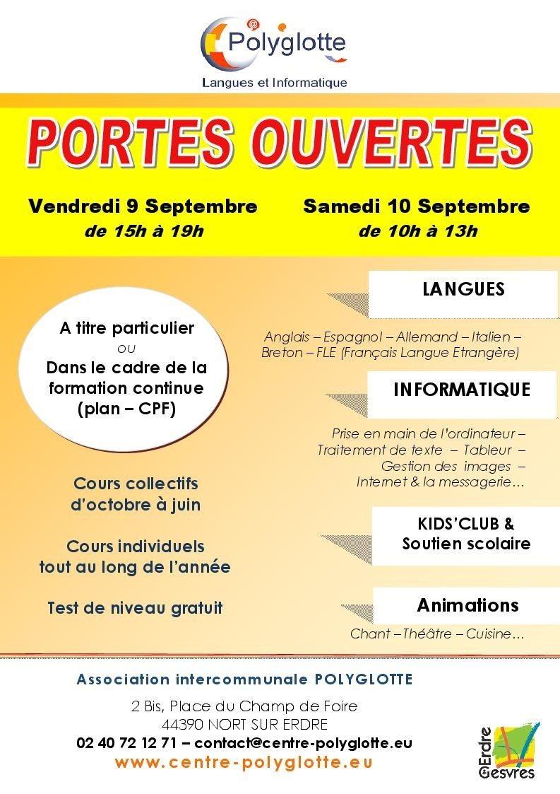 Portes Ouvertes à Polyglotte Nort-sur-Erdre