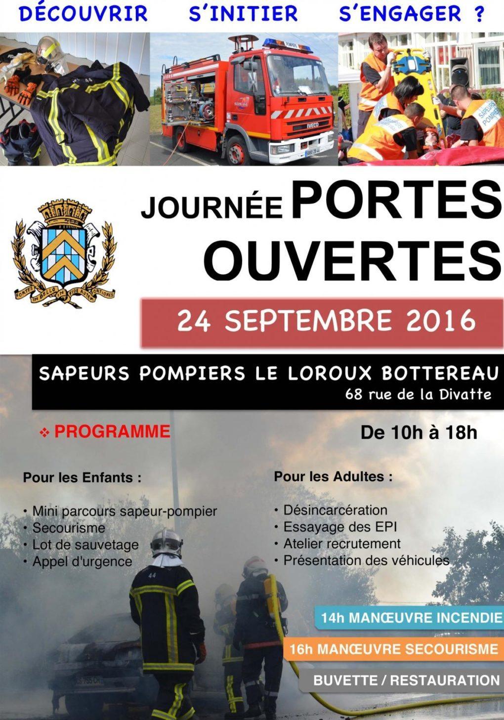 Portes ouvertes des sapeurs-pompiers du Loroux-Bottereau Le Loroux-Bottereau