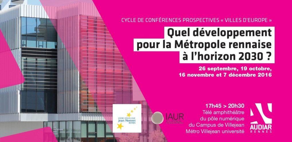 Quels ressorts de croissance pour des villes après 2020 ? Rennes