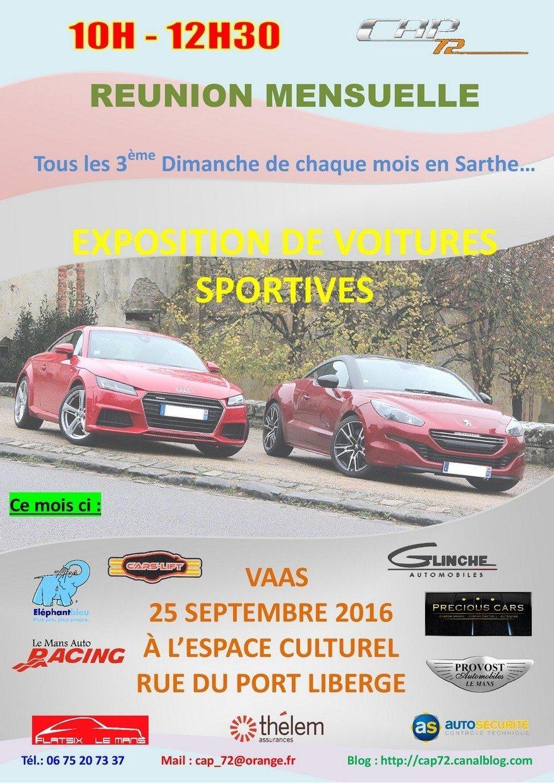 Rassemblement des voitures sportives et d'exception du CAP72 Vaas