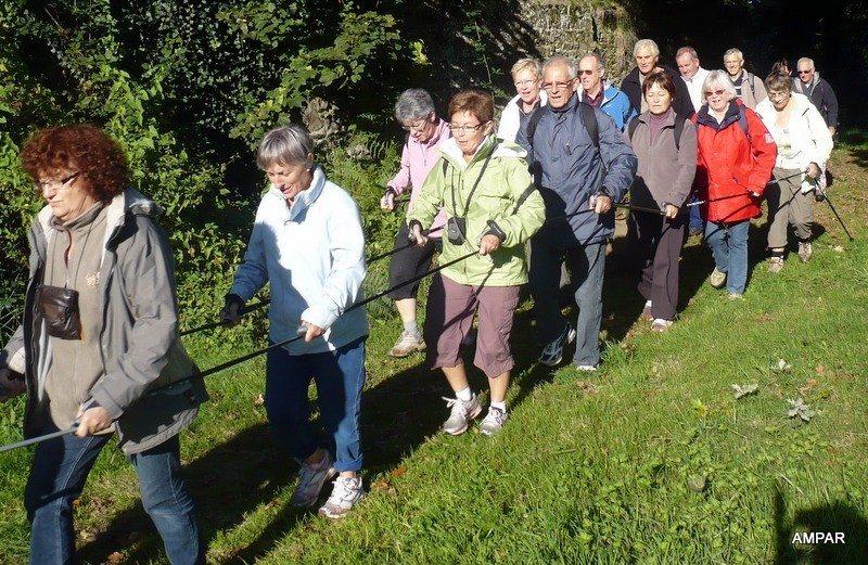Reprise de la marche nordique douce, à l'Ampar Saint-Malo