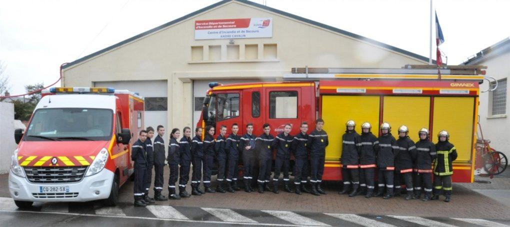 Tests de sélection entrée à l'école jeunes sapeurs-pompiers Le Pouliguen