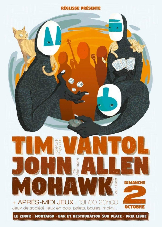 Tim Vantol, John Allen, Mohawk Montaigu
