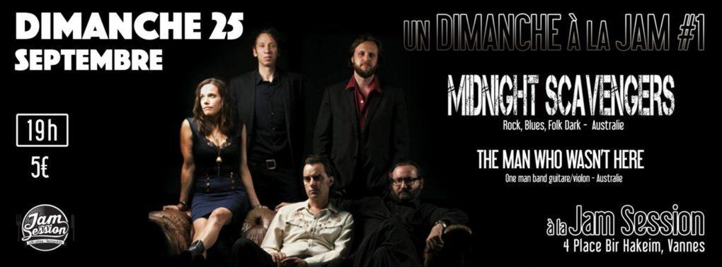 Un dimanche à la Jam : Midnight Scavengers + TMWWH Vannes