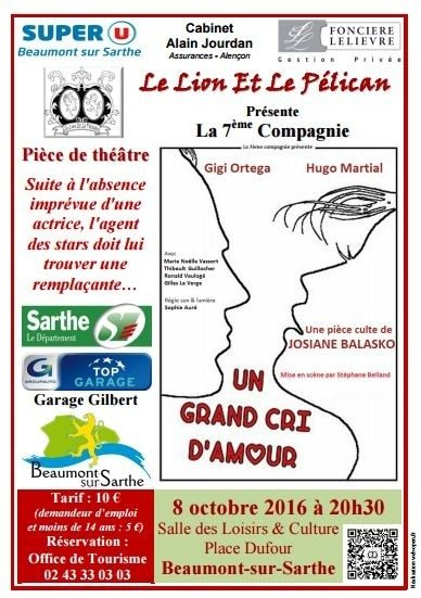 Un grand cri d'amour Beaumont-sur-Sarthe