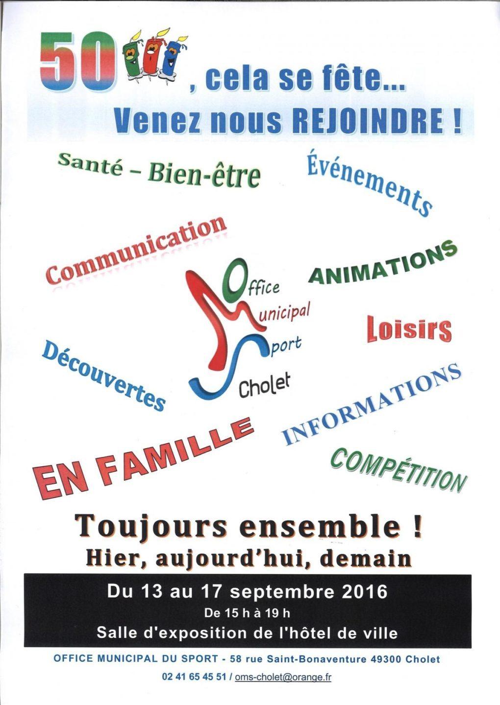 Une expo pour les 50 ans de l'Office municipal du sport Cholet