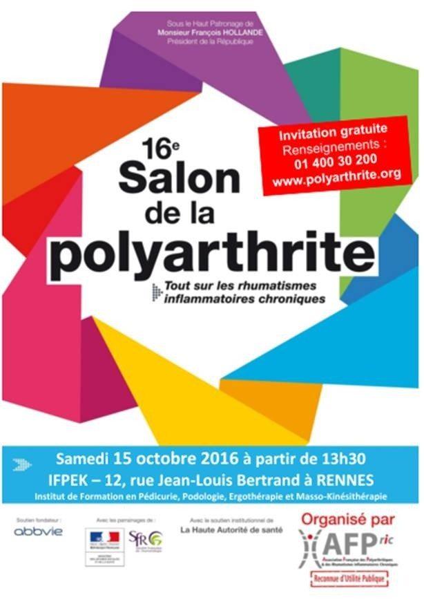 16e salon de la polyarthrite rennes 15 octobre 2016 unidivers - Salon de la gastronomie rennes ...