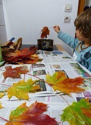 Atelier du patrimoine : le seau à bonbons aux couleurs automnales Tourouvre-au Perche