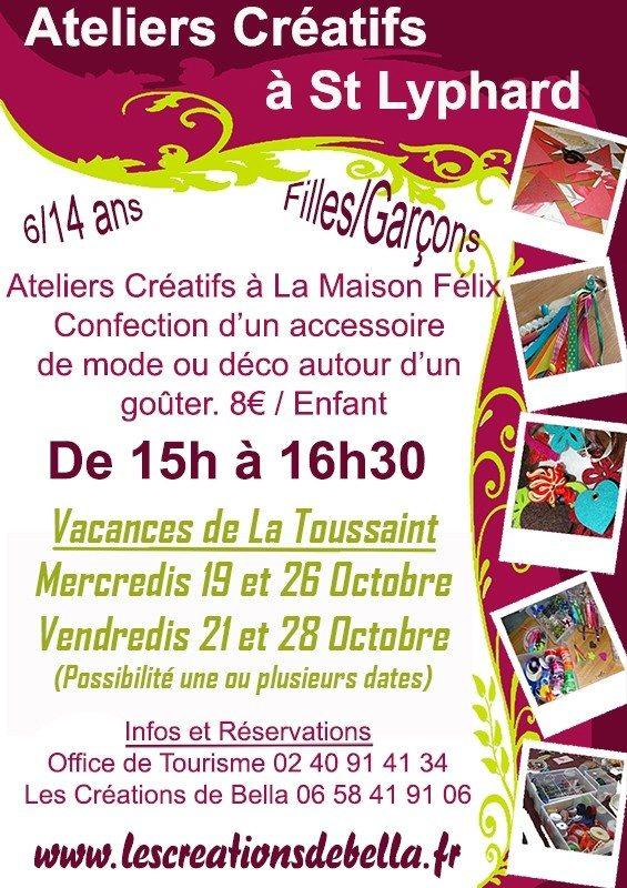 Ateliers Créatifs Vacances de la Toussaint : Créations de Bella Saint-Lyphard