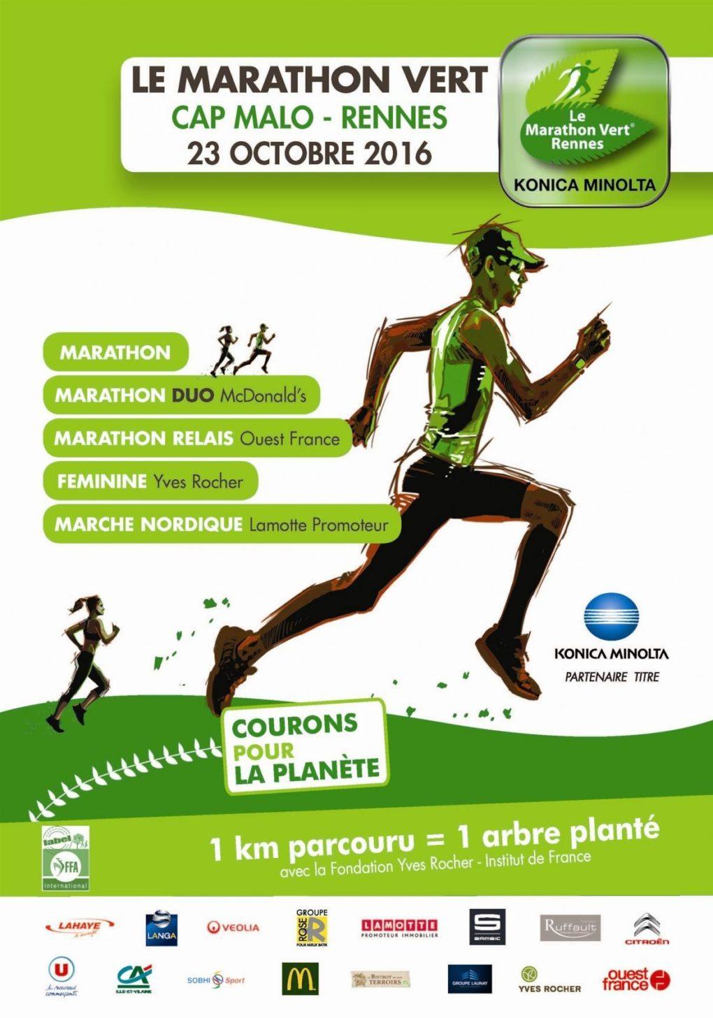 Dimanche à Rennes : Marathon Vert Rennes Konica Minolta La Mézière